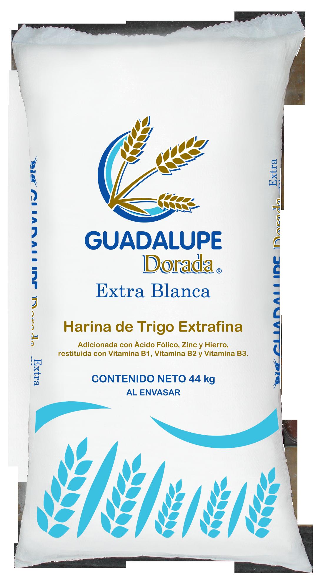 Presentaciones de Harina de Trigo Guadalupe Dorada Extra Blanca